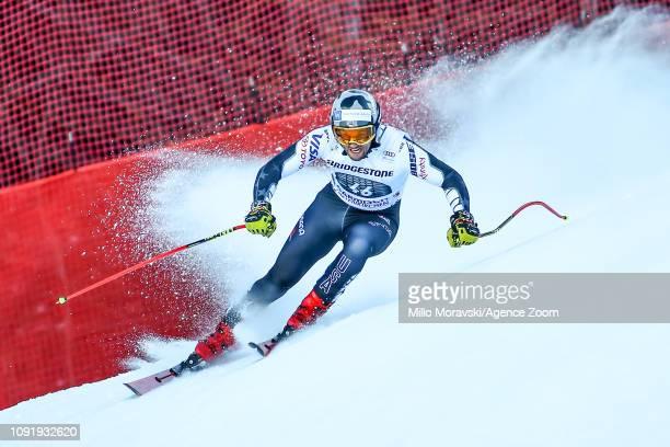 Thomas Biesemeyer of USA in action during the Audi FIS Alpine Ski World Cup Men's Downhill Training on January 31 2019 in Garmisch Partenkirchen...