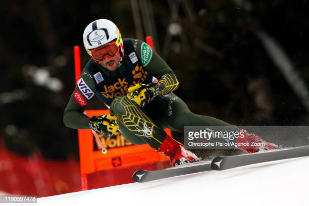 Thomas Biesemeyer of USA in action during the Audi FIS Alpine Ski World Cup Men's Downhill on December 27, 2019 in Bormio Italy.