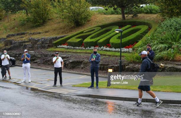 Thomas Bjørn, Team Europe's winning captain at the 2018 Ryder Cup, completes his 130mile four-day charity walk from the European Tour headquarters to...