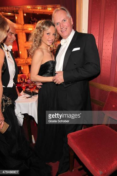 Thomas Borer and girlfriend Denise A attend the traditional Vienna Opera Ball at Vienna State Opera on February 27 2014 in Vienna Austria