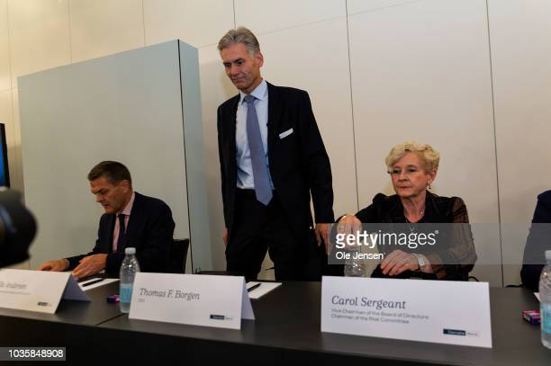 Thomas Borgen CEO at Danske Bank seen leaving the banks press conference at Tivoli Hotel and Congress Center where the bank disclosed its internal...