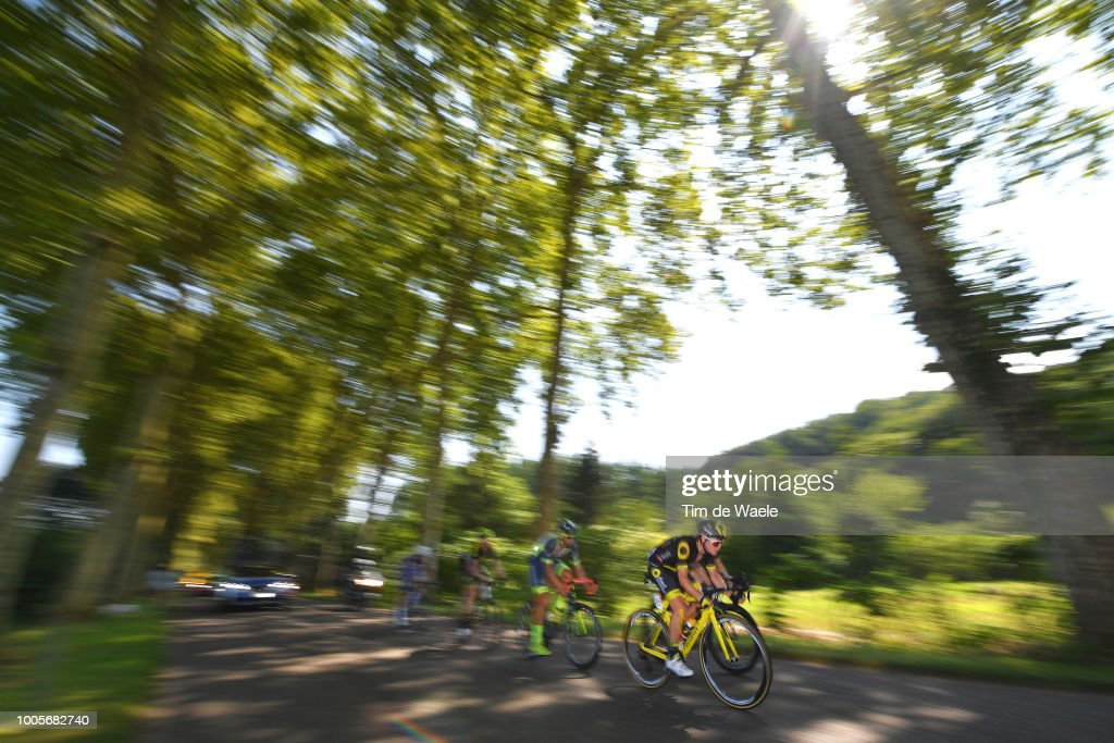 Thomas Boudat of France and Team Direct Energie / Luke Durbridge of Australia and Team Mitchelton-Scott / Mathew Hayman of Australia and Team Mitchelton-Scott / Niki Terpstra of The Netherlands and Team Quick-Step Floors / Guillaume Van Keirsbulck of Belgium and Team Wanty Groupe Gobert / during the 105th Tour de France 2018, Stage 18 a 171km stage from Trie-sur-Baise to Pau on July 26, 2018 in Pau, France.