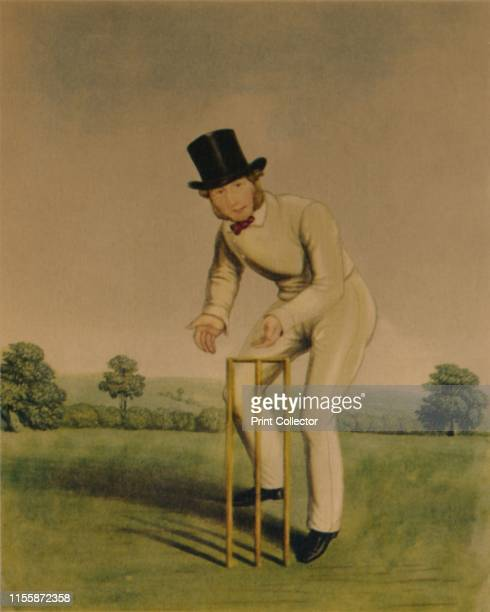 Thomas Box', circa 1850s. Portrait of English cricketer Tom Box , remembered as one of the most outstanding wicketkeepers of his time. Box played for...