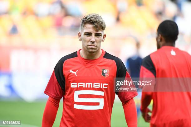 Thomas Brandon of Rennes during the Ligue 1 match between Troyes AC and Stade Rennais at Stade de l'Aube on August 5 2017 in Troyes