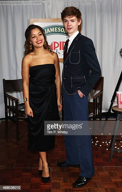 Thomas BrodieSangster and Antonia Thomas the Jameson Empire Awards 2015 at the Grosvenor House Hotel on March 29 2015 in London England