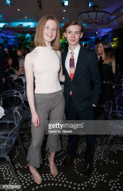 Thomas BrodieSangster and guest attend the Newport Beach Film Festival UK Honours in association with Visit Newport Beach at The Rosewood Hotel on...