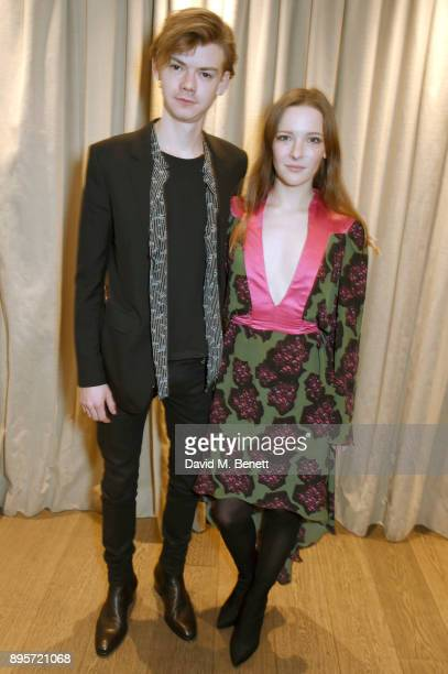 Thomas BrodieSangster and Morfydd Clark attend the London Critics Circle Film Awards 2018 Nominations at The May Fair Hotel on December 19 2017 in...