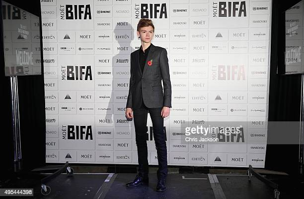 Thomas BrodieSangster announces the The Moet British Independent Film Awards at The London Edition Hotel on on November 3 2015 in London England