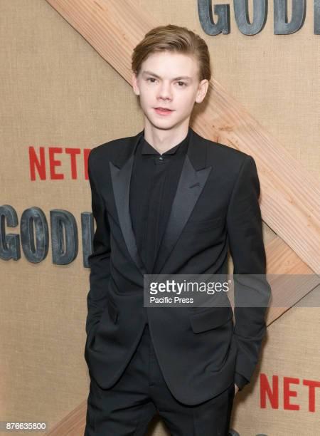 Thomas BrodieSangster attends Netflix Godless premiere at Metrograph