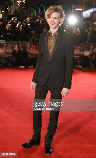Thomas BrodieSangster attends the UK fan screening of 'Maze Runner The Death Cure' at Vue West End on January 22 2018 in London England