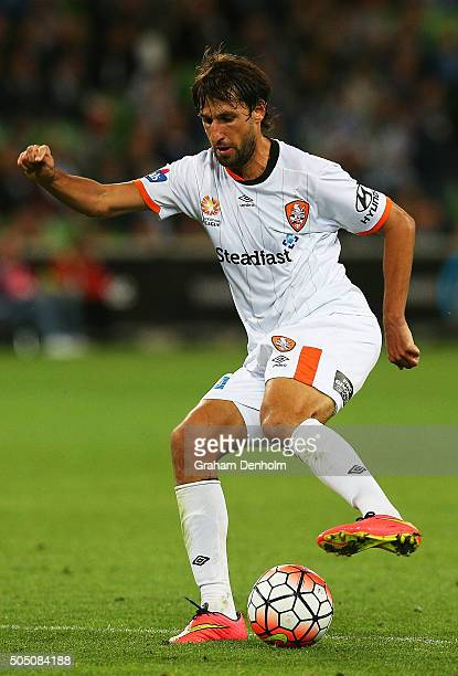 Thomas Broich of Brisbane Roar controls the ball during the round 15 ALeague match Melbourne Victory and Brisbane Roar at AAMI Park on January 15...