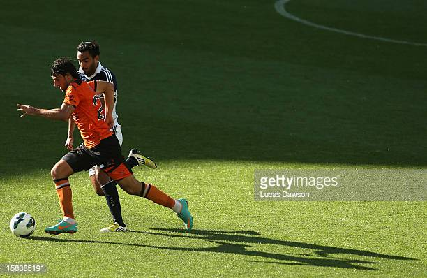 Thomas Broich of the Roar controls the ball during the round 11 ALeague match between the Melbourne Victory and the Brisbane Roar at AAMI Park on...