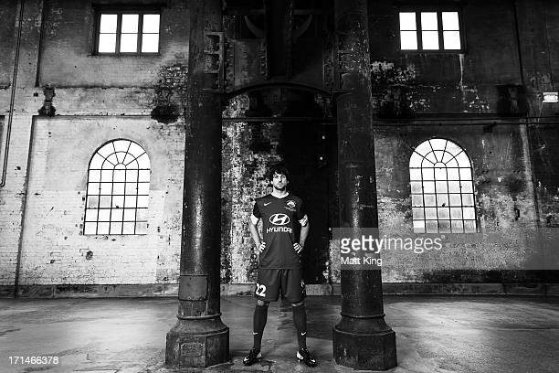 Thomas Broich poses during the ALeague All Stars jersey launch at Carriageworks on June 25 2013 in Sydney Australia