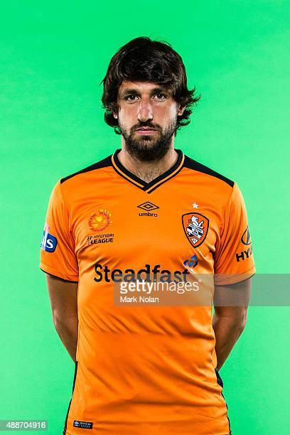 Thomas Broich poses during the Brisbane Roar ALeague headshots session at Fox Sports Studios on September 17 2015 in Sydney Australia