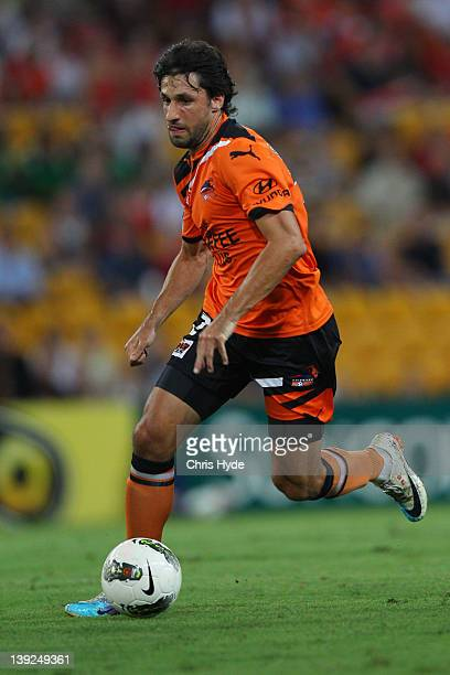 Thomas Broichof the Roar in action during the round 20 ALeague match between the Brisbane Roar and the Melbourne Victory at Suncorp Stadium on...