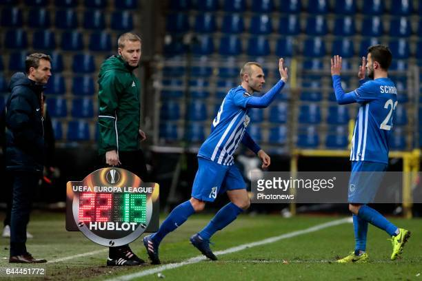 Thomas Buffel forward of KRC Genk during the Europa League second leg round of 32 game between KRC Genk and FC Astra Giurgiu on February 23 2017 in...