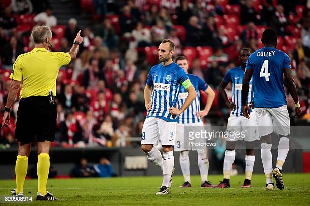 Thomas Buffel forward of KRC Genk pictured during the UEFA Europa League group F stage match between Athletic Club de Bilbao and KRC Genk at the...