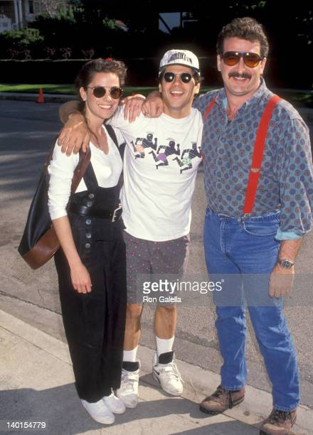 Thomas Calabro, wife Elizabeth Pryor, and his brother at the 11th Annual Celebrity Day at McClaren Hall, Home of Henry Winkler, Toluca Lake.