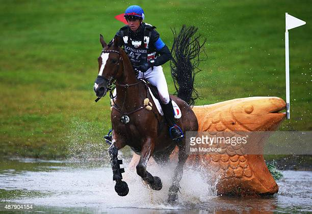 Thomas Carlile of France competes on Sirocco du Gers during the Longines FEI European Eventing Championship 2015 at Blair Castle on September 12 2015...