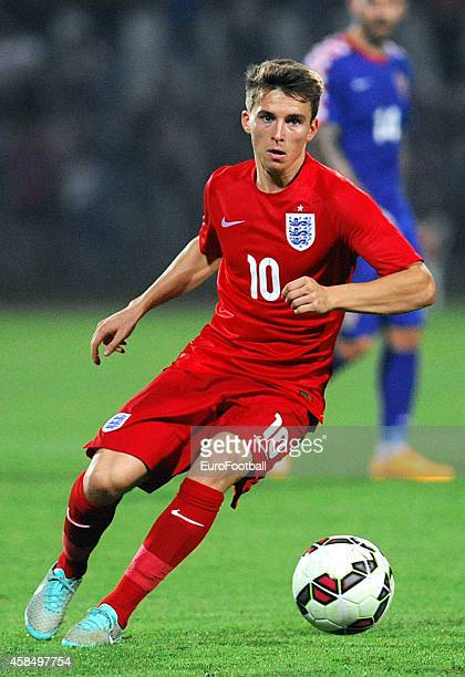 Thomas Carroll of England in action during the UEFA U21 Championship Playoff Second Leg match between Croatia and England at the Stadion Hnk Cibalia...