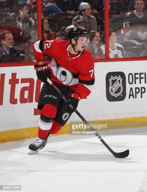 Thomas Chabot of the Ottawa Senators skates against the St Louis Blues at Canadian Tire Centre on January 18 2018 in Ottawa Ontario Canada