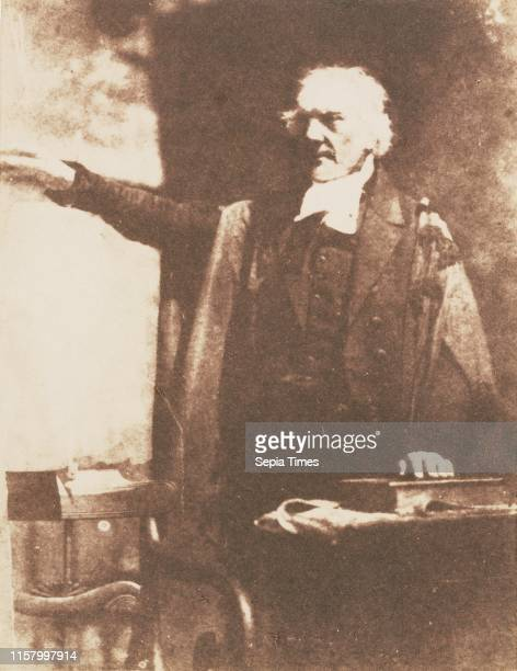 [Thomas Chalmers D D] Hill Adamson Scottish active 1843 1848 Scotland Europe about 1843 Salted paper print from a Calotype negative Image 138 x 108...