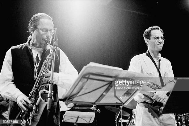 Thomas Chapin, alto saxophone, & Ned Rothenberg perform at the BIM Huis on 24th May 1996 in Amsterdam, Netherlands.