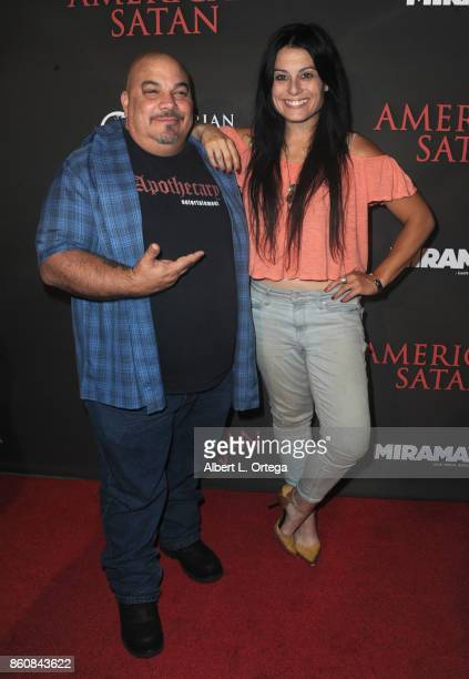 Thomas Churchill and Actress Alexis Iacono arrive for the Premiere Of Miramax's 'American Satan' held at AMC Universal City Walk on October 12 2017...