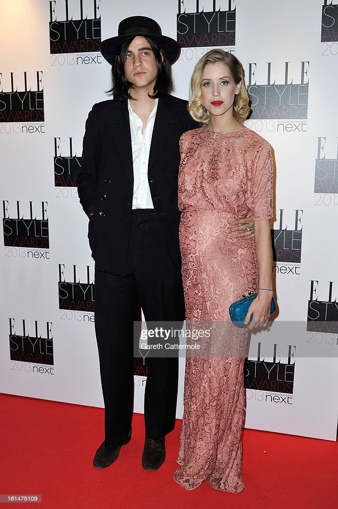 Thomas Cohen and Peaches Geldof attend the Elle Style Awards at The Savoy Hotel on February 11, 2013 in London, England.