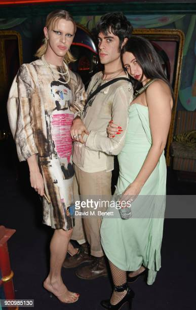 Thomas Cohen and Reba Maybury attends the LOVE and MIU MIU Women's Tales Party at Loulou's on February 19 2018 in London England