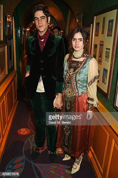 Thomas Cohen and Zoe Bleu attend the Sunday Times Style Christmas Party at Annabel's on November 30 2016 in London England