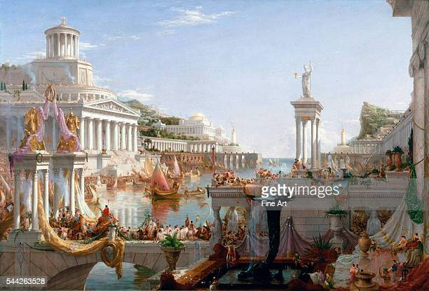 Thomas Cole The Course of Empire Consummation oil on canvas 51 × 76 in New York Historical Society New York