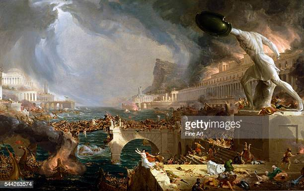 Thomas Cole The Course of Empire Destruction oil on canvas 395 × 635 in New York Historical Society New York
