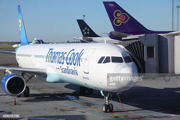Thomas Cook Thai Air and Star Aliance passenger jets