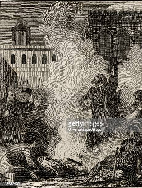 Thomas Cranmer English Protestant prelate Archbishop of Canterbury Burnt at the stake at Oxford under the reign of the Roman Catholic queen Mary I...