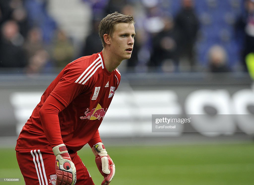 Thomas Dahne of FC Salzburg in action during the Austrian Bundesliga match between FC Salzburg and FK Austria Wien held on May 26, 2013 at the Red Bull Arena in Salzburg, Austria.