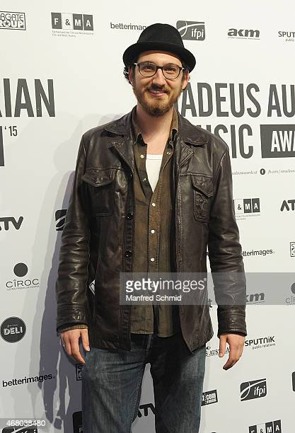 Thomas David poses for a photograph during the Amadeus Austrian Music Awards 2015 at Volkstheater on March 29 2015 in Vienna Austria