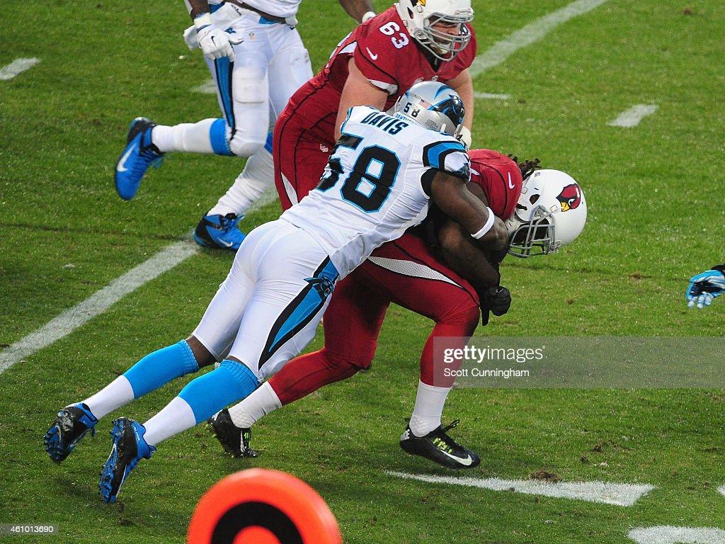 Wild Card Playoffs - Arizona Cardinals v Carolina Panthers : News Photo