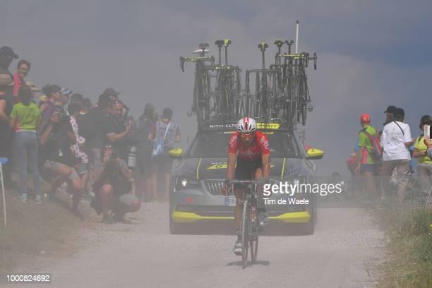 Thomas De Gendt of Belgium and Team Lotto Soudal / Dust / Montee du plateau des Glieres Gravel / during the 105th Tour de France 2018 / Stage 10 a...