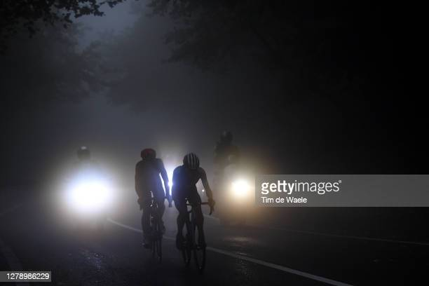 Thomas De Gendt of Belgium and Team Lotto Soudal / Einer Augusto Rubio Reyes of Colombia and Movistar Team / Fog / during the 103rd Giro d'Italia...