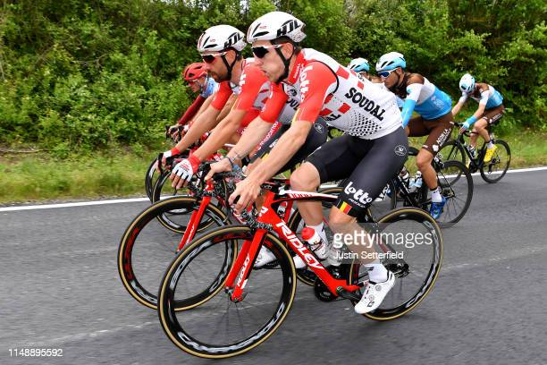 Thomas De Gendt of Belgium and Team Lotto Soudal / Jasper De Buyst of Belgium and Team Lotto Soudal / Nans Peters of France and Team AG2R La Mondiale...