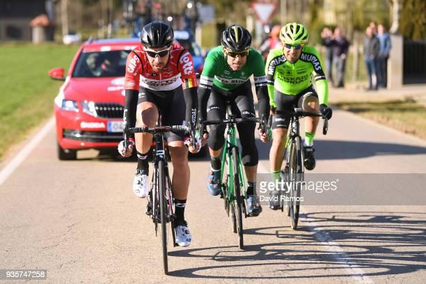 Thomas De Gendt of Belgium and Team Lotto Soudal / Lluis Guillermo Mas Bonet of Spain and Team Caja Rural-Seguros RGA / Mikel Bizkarra Etxegibel of...