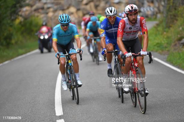 Thomas De Gendt of Belgium and Team Lotto Soudal / Philippe Gilbert of Belgium and Team DeceuninckQuickStep / Jakob Fuglsang of Denmark and Astana...