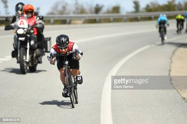 Thomas De Gendt of Belgium and Team Lotto Soudal White Leader Jersey / during the 98th Volta Ciclista a Catalunya 2018 Stage 4 a 1708km stage from...