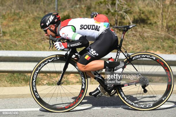 Thomas De Gendt of Belgium and Team Lotto Soudal White Leader Jersey / during the 98th Volta Ciclista a Catalunya 2018, Stage 4 a 170,8km stage from...
