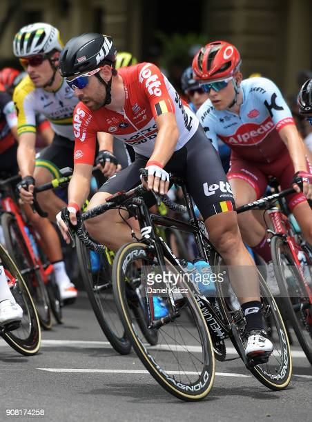 Thomas De Gent of Belgium and Lotto Soudal competes during stage six of the 2018 Tour Down Under on January 21 2018 in Adelaide Australia
