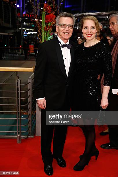 Thomas de Maiziere and his daughter Nora attend the 'Nobody Wants the Night' Opening Night premiere during the 65th Berlinale International Film...