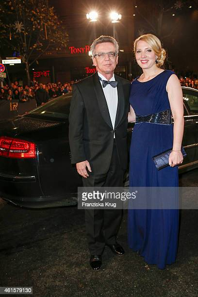 Thomas de Maiziere and his daughter Nora de Maiziere arrives at the Bambi Awards 2014 on November 13 2014 in Berlin Germany
