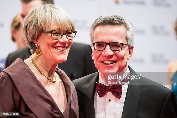 Thomas de Maiziere and his wife Martina attends German Sports Gala 'Ball des Sports 2016' on February 6 2016 in Wiesbaden Germany