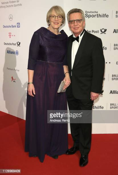Thomas de Maiziere and his wife Martina de Maiziere attend Ball des Sports 2019 Gala at RheinMain CongressCenter on February 02 2019 in Wiesbaden...
